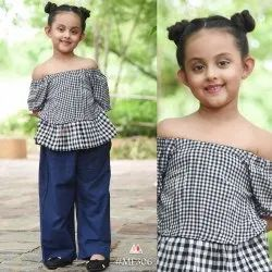 Girl Khadi Kids Pant Shirt, Size: 6-8