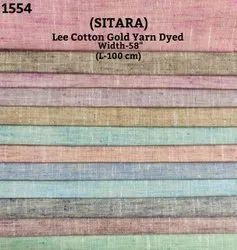 Sitara Lee Cotton Gold Yarn Dyed Shirting Fabric