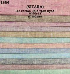 Sitara Lee Cotton Gold Yarn Dyed Shirting Fabric
