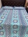 Screen Print Quilted Bed Cover With Two Pillow