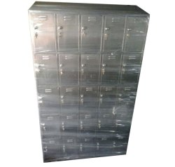 Silver Floor Mounted Stainless Steel Storage Cabinet