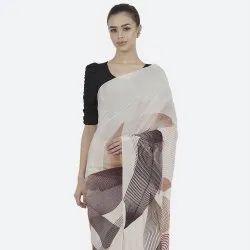 Digital Printed Chiffon Saree