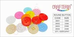 Multicolor Plastic Craft Button, For Garments, Packaging Type: Packet