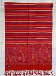 Casual Wear Red Viscose Stole