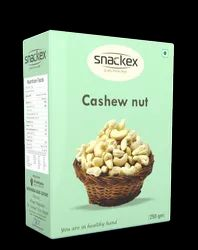 White Snackex Cashew Nut, Packaging Size: 250gm & 500gm