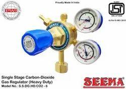 Seema Forged Brass Single Stage Carbon Dioxide Gas Regulator