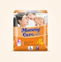 Mummy Care Nonwoven Baby Diaper L Size, Age Group: 9 - 14, Packaging Size: 5