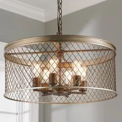 LED Iron Contemporary Cage 6 Light Chandelier, Model Name/Number: CGD01012