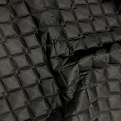 Black Polyester Quilted Fabric