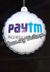 White PVC Dangler Balloon, For Advertising, 0.8mm