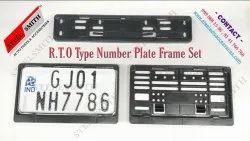 Number Plate Frame Set