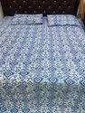Block Print Reversible Bed Comforter With Two Pillow