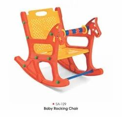 Steel Art Plastic Baby Rocking Chair, For Home