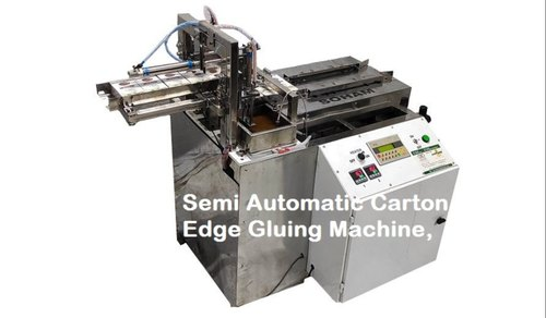 Semi Automatic Carton Edge Gluing Machine,