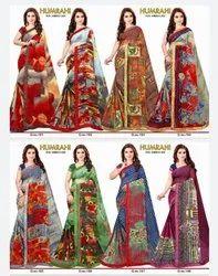 Printed Lace Border Sarees