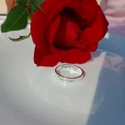Engagement Promise Ladies Silver Name Ring