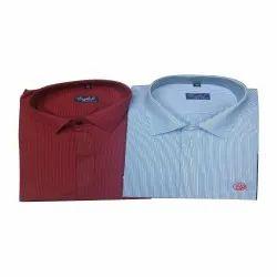 Collar Neck Men Cotton Shirts, Machine wash, Size: S-xl