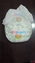 White Babelios Cotton Baby Diaper, Size: Small