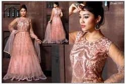 Embroidered Light Pink Ladies One Piece Gown