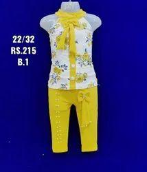 Yellow Kids Girl Western Wear
