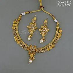 Fusion Arts Antique Polki Necklace Set