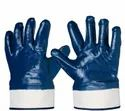 Nitrile Coated Hosiery Glove With Canvas Kuff