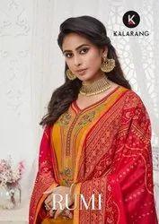 Kalarang Rumi Jam Silk With Embroidery Work Dress Material Catalog