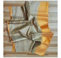 Party Wear Multicolor Handloom Tussar Silk Saree, 5.2 M (separate Blouse Piece)