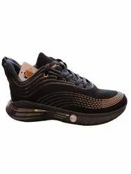 Mesh Black Sports Shoes, Size: 8