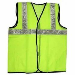 Shreeji Green Polyester Safety Jackets