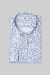 Boros 100% Cotton Blue Paisley Mens Formal Shirt, Machine wash