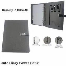 Jute Diary Power Bank 10000mAh