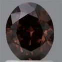 Oval 1.18ct Fancy Dark Orange Brown I1 GIA Certified Natural Fancy Color Diamond
