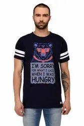 Round Half Sleeve Printed Men T Shirts