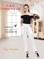 Comfort Rayon Peg Trouser