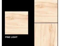 Ceramic Mosaic Matt Pine Light Bathroom Tiles, Size: 600*600 mm(L*W), Thickness: 6 mm