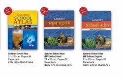 Paper Book Aadarsh School Atlas, Size: 21 X 28 Cm