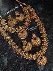 Golden Gold Temple Bridal Jewelry Sets