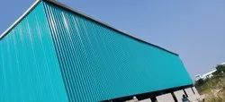 Fabricated MS Steel Shed Fabrication Service