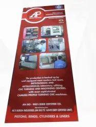 Flex Red Exhibition Stall Banners, Shape: Rectangular