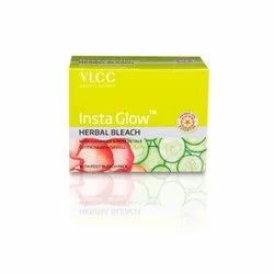 White pvc VLCC INSTA GLOW HERBAL BLEACH(342GM), For Parlour, Type Of Packaging: Box