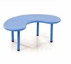 Neelkamal Blue Plastic Bean Shape Table