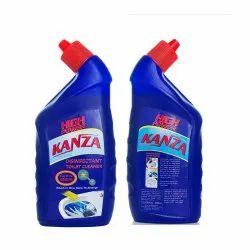 蓝色液体厕所清洁剂,包装尺寸:500毫升