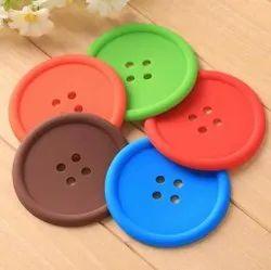 Multicolor 5 Pcs Silicon Button