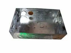 Galvanized Iron (GI) Wall Mounted Module GI Concealed Modular Box, Size: 79 X 75 Mm