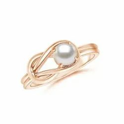 925 Sterling Silver Freshwater Pearl Infinity Rings Jewelry