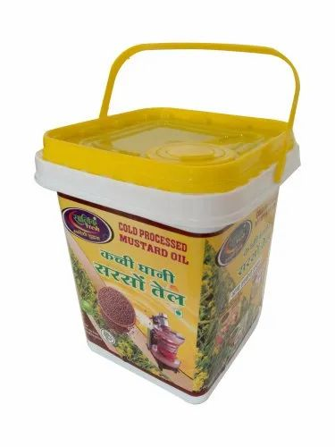 Satvikfresh 15 Litre Cold Processed Mustard Oil, Packaging Type: Plastic Container