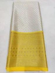 Casual Ladies 6.30 Meter Banarasi Silk Saree, With Blouse Piece