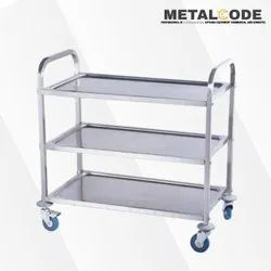 Metal Code Four-Wheel SS Multipurpose Trolley, For Kitchen, Load Capacity: 100kg
