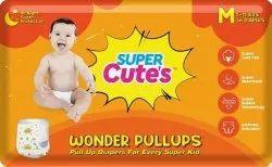Super Cutes Wonder Pullups M Size Kids Diapers, Size: Medium, Age Group: 3-12 Months